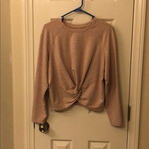 lululemon pullover. Heathered pink.